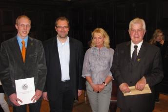 v.l.n.r. Malte Ringel, Benno Portmann, Andrea Graf, Ferdinand Zerbst